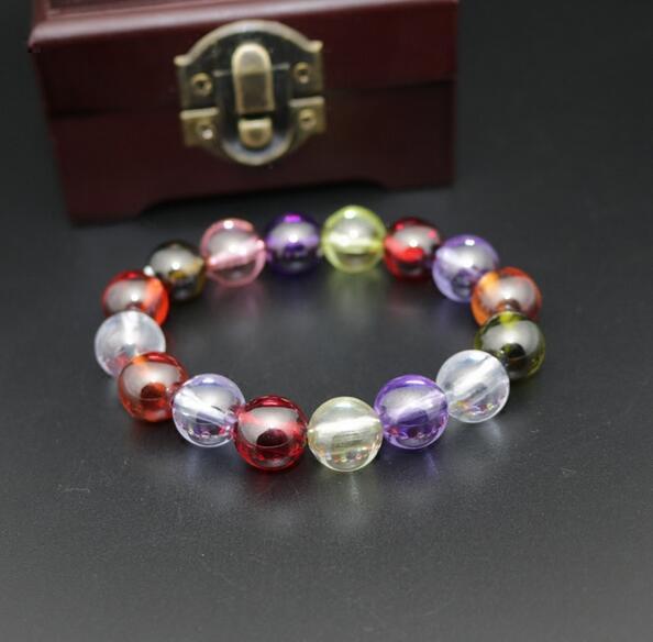 eed61bb4f1f3 Cristal gema natural caramelo color ZIRCON pulsera pulseras coloridas  piedras preciosas joyas pulsera para hombres y mujeres en Pulseras y  Brazaletes de ...