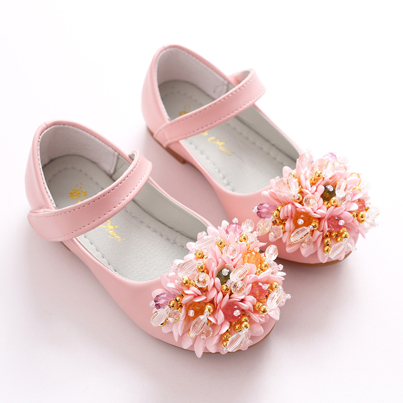 fashion leather shoes flower girls dance party wedding soft kid dress toddler