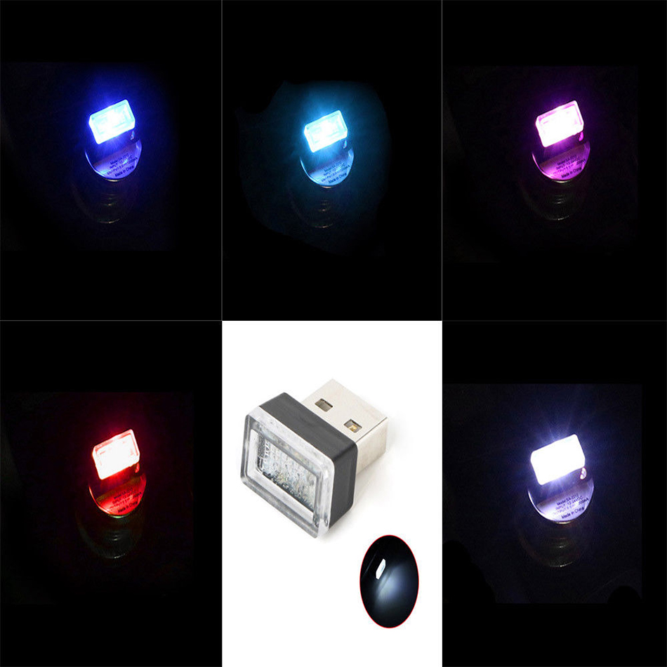 USB Car Atmosphere Lights Novelties Mini LED light Novelty Lighting Decorative Lamp For Car Laptop Notbook Power Bank
