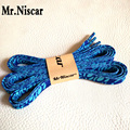 Mr.Niscar 2 Pair 80-150cm Width 1cm Blue Striped Polyester Flat Shoelaces Fashion Sport Shoes Shoestring Casual Shoe Laces