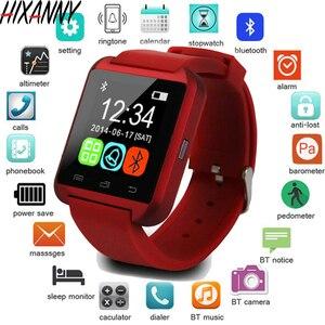 Image 1 - Nouvelle Smartwatch Bluetooth Sport montre intelligente U8 pour IPhone IOS Android téléphone intelligent usure horloge dispositif portable Smartwach GT08 DZ09