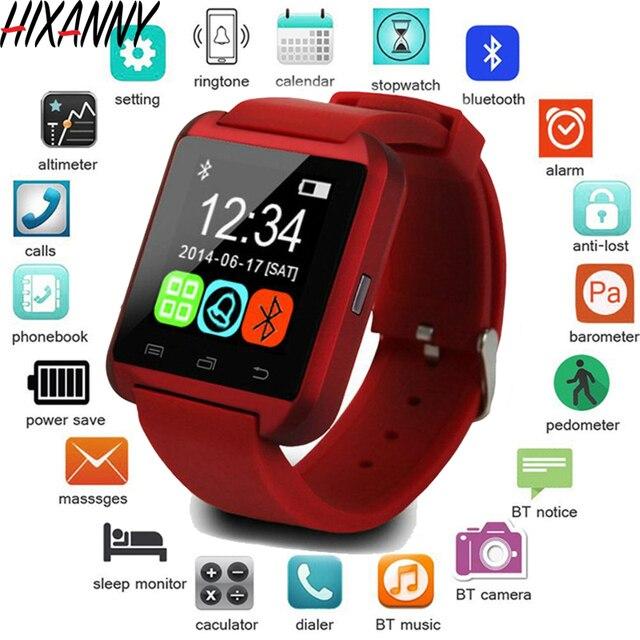Nuevo reloj inteligente deportivo Bluetooth U8 para IPhone IOS Android reloj de uso para teléfono inteligente dispositivo portátil Smartwach GT08 DZ09