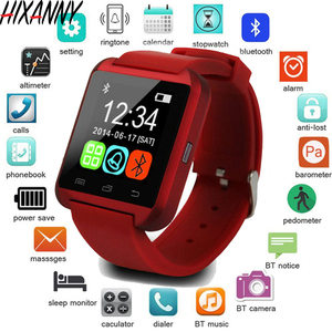 Image 1 - جديد ساعة ذكية بلوتوث الرياضة ساعة ذكية U8 آيفون IOS هاتف أندرويد ذكي ارتداء ساعة يمكن ارتداؤها جهاز Smartwach GT08 DZ09