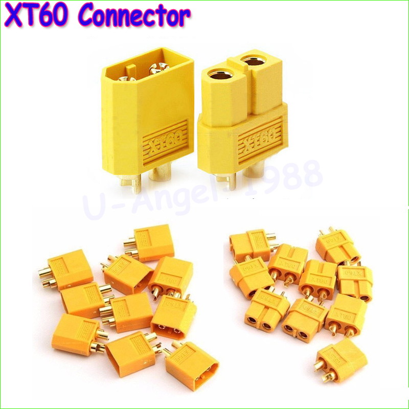 100pcs High Quality XT60 XT-60 XT 60 Plug Male Female Bullet Connectors Plugs For RC Lipo Battery (50 pair) Wholesale injora 5 pairs xt60 xt 60 male female bullet connectors plugs for rc car drone lipo battery