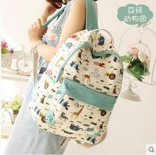 Студент брезентовый мешок, сумка женщины день и Южная Корея рюкзак путешествия прилив колледж ветер досуг небольшой свежий