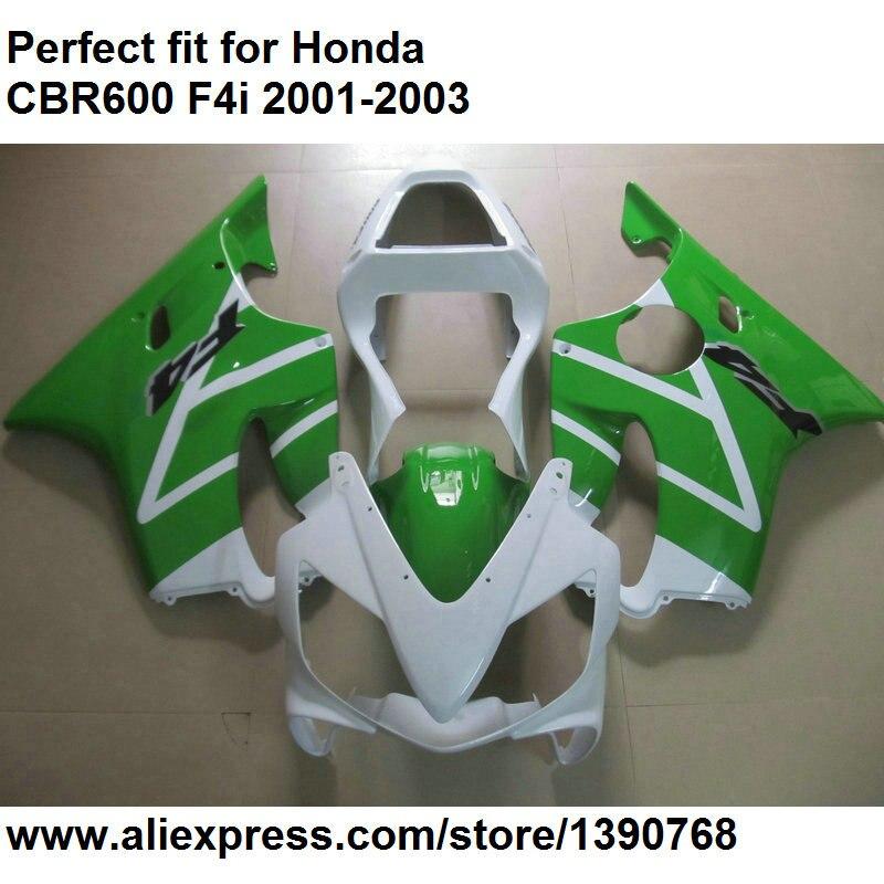 Hot sales fairing kit for Honda CBR 600 F4i 01 02 03 green white fairings CBR600F4i 2001 2002 2003 OL87Hot sales fairing kit for Honda CBR 600 F4i 01 02 03 green white fairings CBR600F4i 2001 2002 2003 OL87