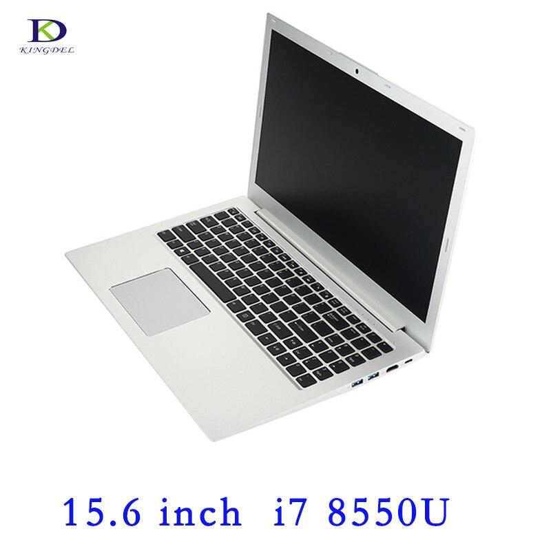 15.6 Pouces Ultrabook Ordinateur Portable De Jeu Intel Quad Core i7 8550U DDR4 RAM NGFF SSD Portable PC Ordinateur Portable Rétro-Éclairé Clavier bluetooth