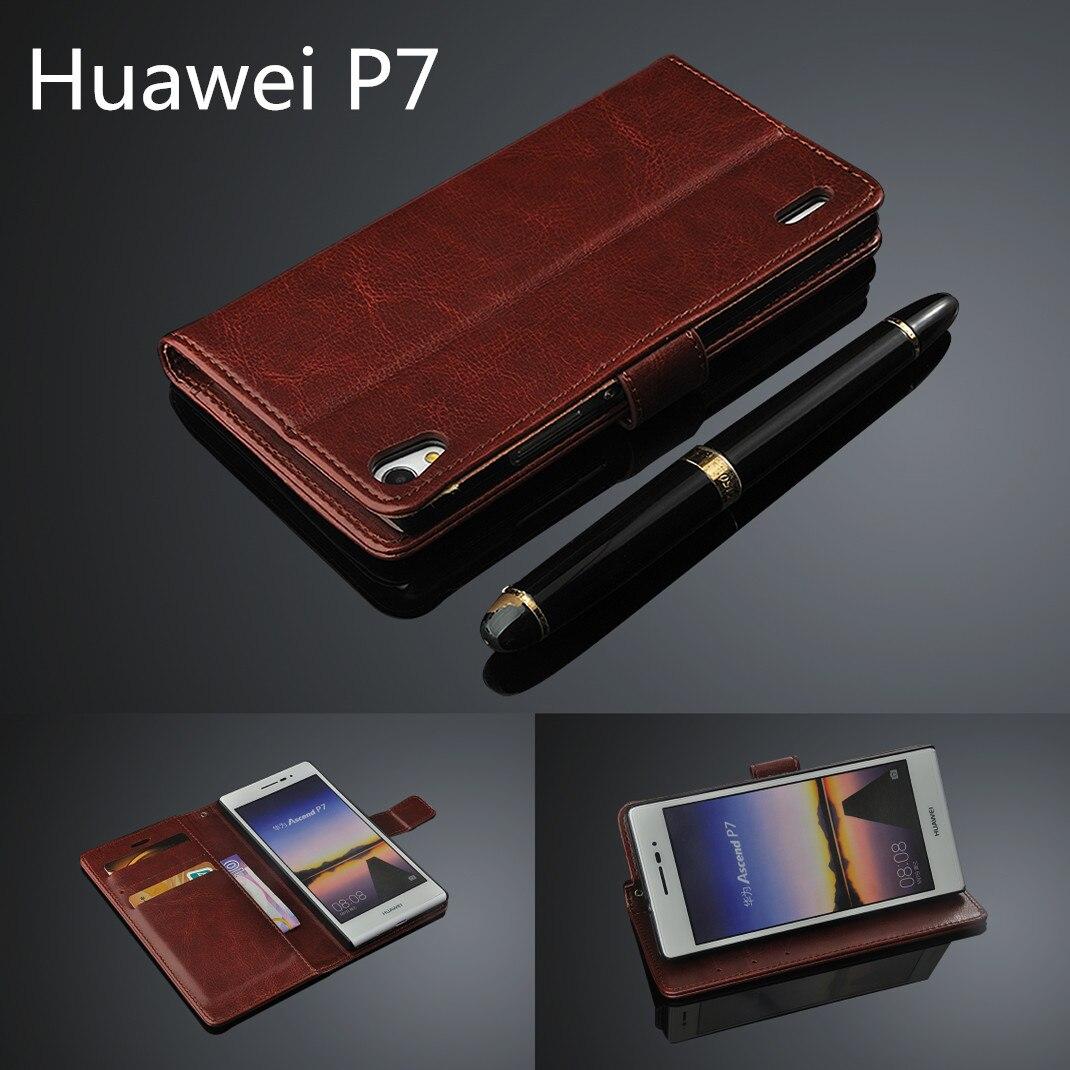 Fundas cubierta titular de la tarjeta case para huawei huawei ascend p7 p7 pu cu