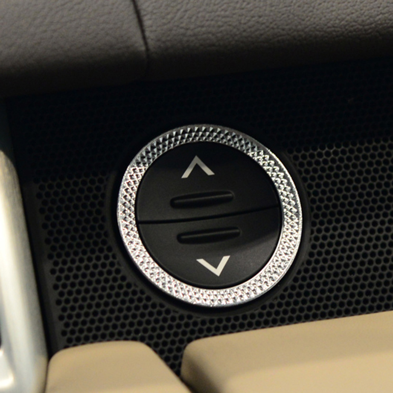 Engine Start Storage Switch Button Ring Trim Cover for <font><b>Land</b></font> <font><b>Rover</b></font> Range <font><b>Rover</b></font> Sport 2014-2018 Range <font><b>Rover</b></font> Vogue <font><b>L405</b></font> 2013-2018 image