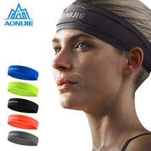 AONIJIE Yoga Hair Bands Sport Elastic Headbands Sports Accessory Dance Biker Wide Headband Stretch Ribbon Cotton Hairband