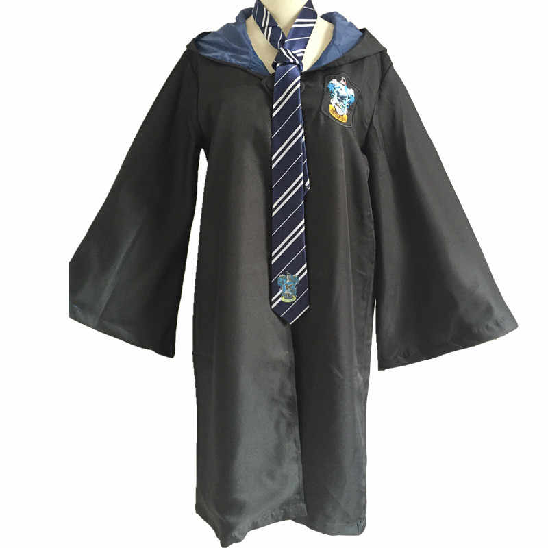 Adult Robes Cloaks Ties Scarfs Cosplay Costumes Gryffindor Ravenclaw  Slytherin Clothing Mantle Hufflepuff Capes Men Women Kids