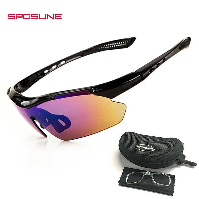 Outdoor Sports Eyewear Cycling Bicycle Sunglasses with Unbreakable UV400 Lens for Man&Wome Running Golf Riding Tennis Baseball
