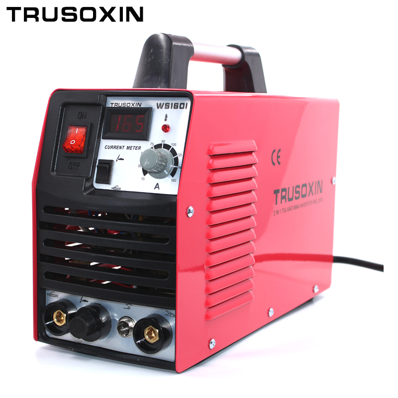 Mini 220 V portátil inversor DC IGBT TIG + MMA 2 em 1 DIY máquina de solda/equipamentos de solda/ soldador com acessórios