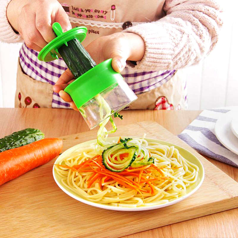 Hot Kitchen Spiral-shaped vegetable wire cutter Household Cut Wire Sharpener Slicer Multi - function rotary planer