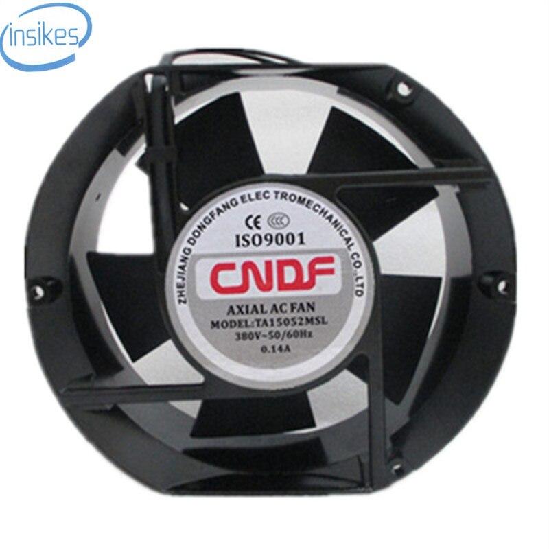 TA15052MSL Axial Industrial Cooling Fan AC 380V 0.14A 17050 170*150*50mm 17CM 2 Wires 50/60HZ delta 17050 17cm 24v 1 7a efb1724vhg cooling fan
