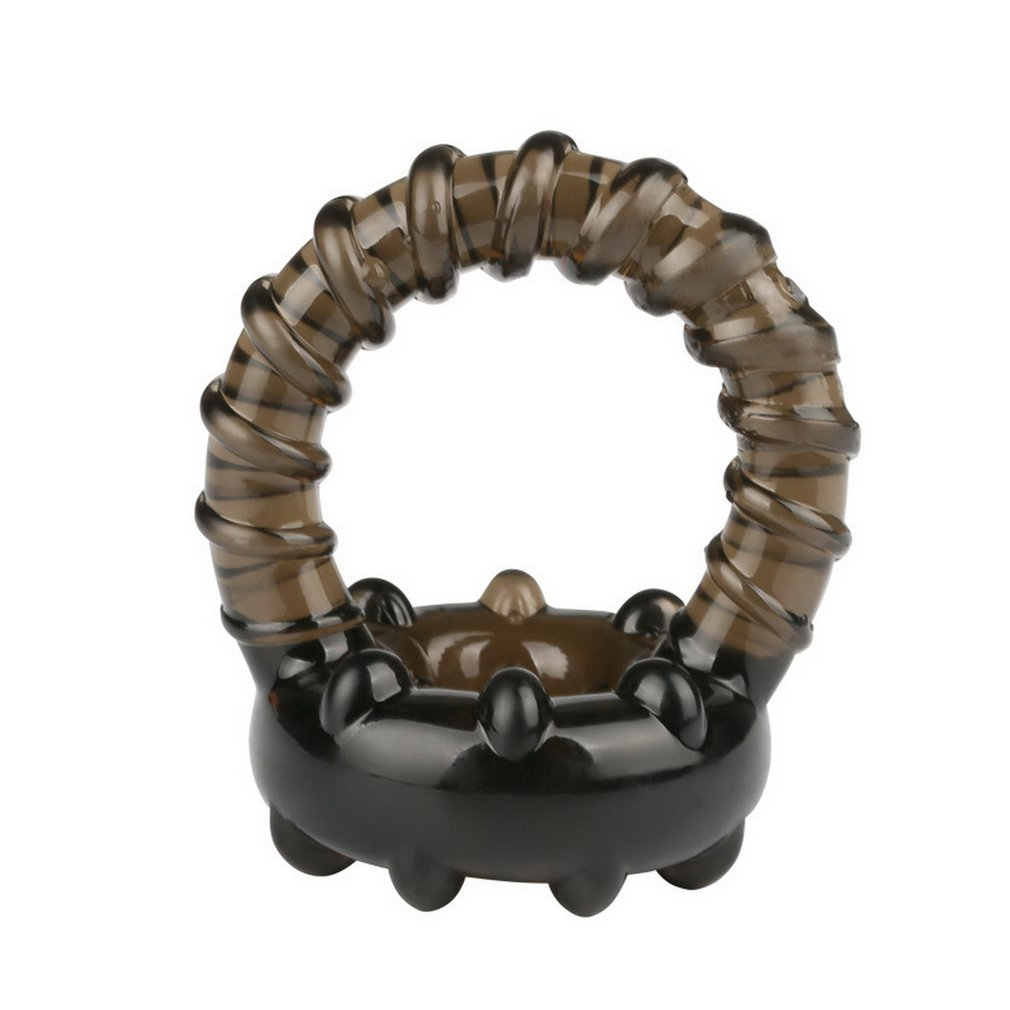 Soft Silicone Thread Cock Ring Double Rings Lock Ejaculation Delay Penis Adult Sexy Toys Products
