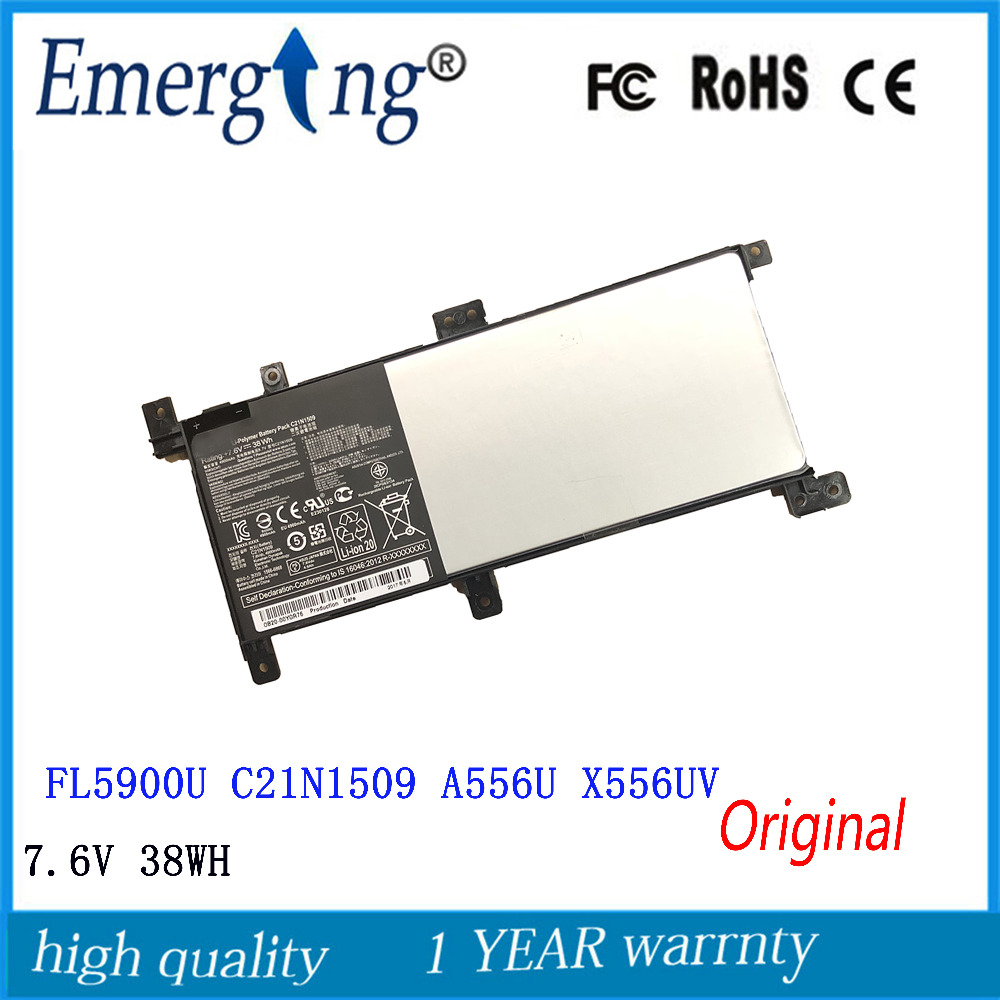 7.6V 38Wh Original New Laptop <font><b>Battery</b></font> for <font><b>ASUS</b></font> C21N1509 Notebook X Series X556UA X556UB X556UF X556UJ <font><b>X556UQ</b></font> X556UR X556UV image