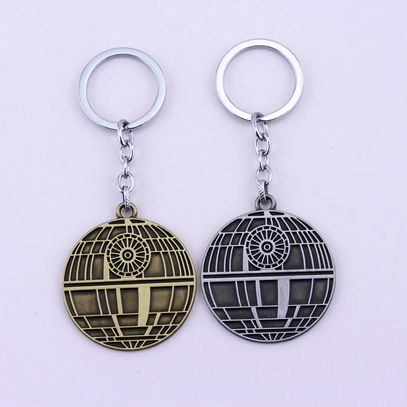 2017 Hot Game Star Wars Logo Spaceship Keychain Movie Spacecraft 4.9cm Coin Alloy Metal Pendant Charms Key Chain Rings Jewelry