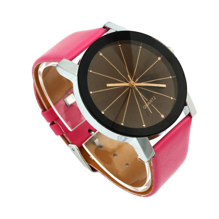 고품질 남자 석영 다이얼 시계 가죽 손목 시계 - 남성 시계