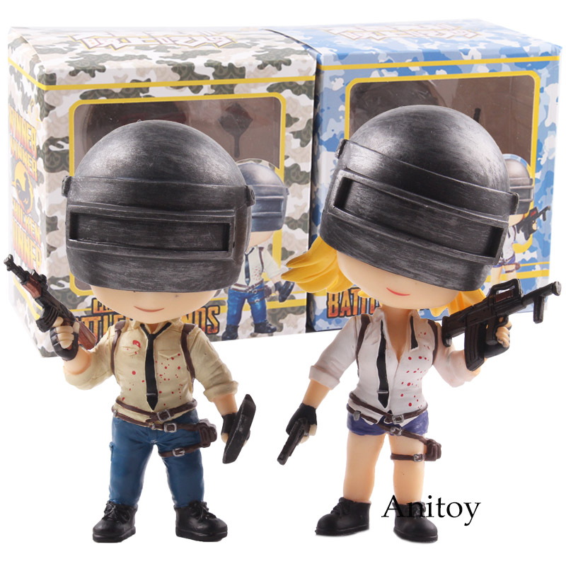 Playerunknown's BattleGrounds PUBG Winner Chicken Bobble Head Action Figure with Magnet PVC Collectible Model Toy 2pcs/set playerunknown s battlegrounds pubg winner chicken bobble head action figure with magnet pvc collectible model toy 2pcs set