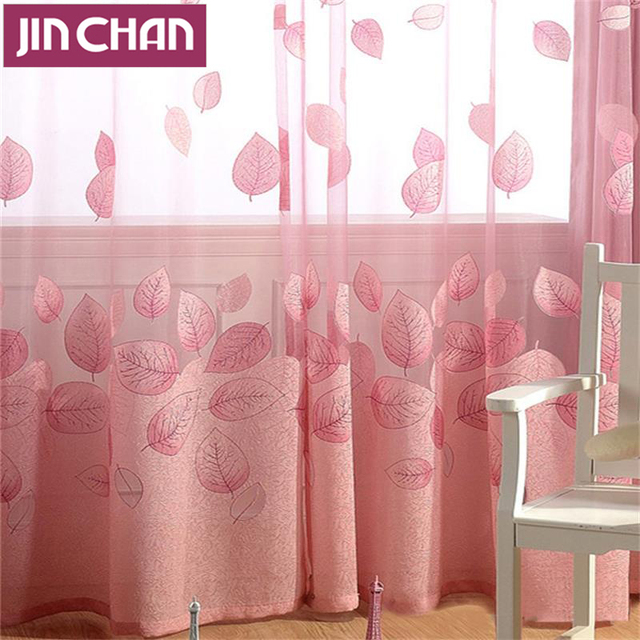 Continental Solid Leaves Blackout Window Curtains Drapes Shades for ...
