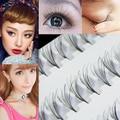 ¡ Caliente! mujeres Maquillaje Negro 8/10/12mm DIY Cluster Pestañas Extensión de Pestañas Falsas