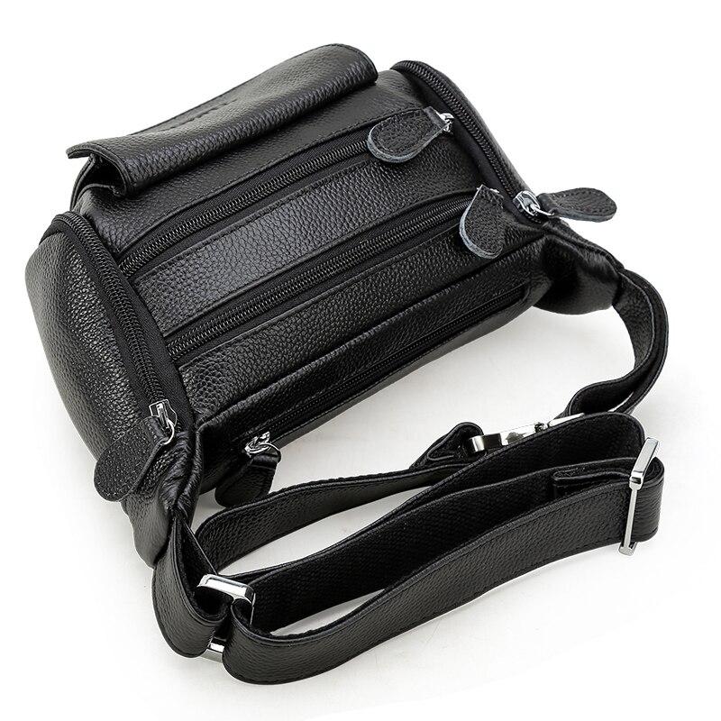 Мужская поясная сумка из натуральной кожи поясная сумка мужская дорожная поясная сумка на пояс мешочки для телефона маленькие нагрудные пакеты - 4