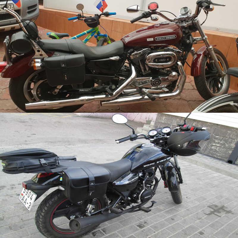 XL883 XL1200 Motorrad Sattel Taschen Für Harley Sportster XL 883 XL 1200 Pu Leder Seite Werkzeug Tasche Gepäck Schwarz