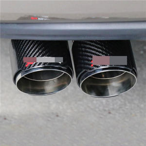 For Volkswagen Scirocco carbon fiber exhaust pipe tail throat Tiguan MK2 carbon fiber silencer Golf 6 auto parts