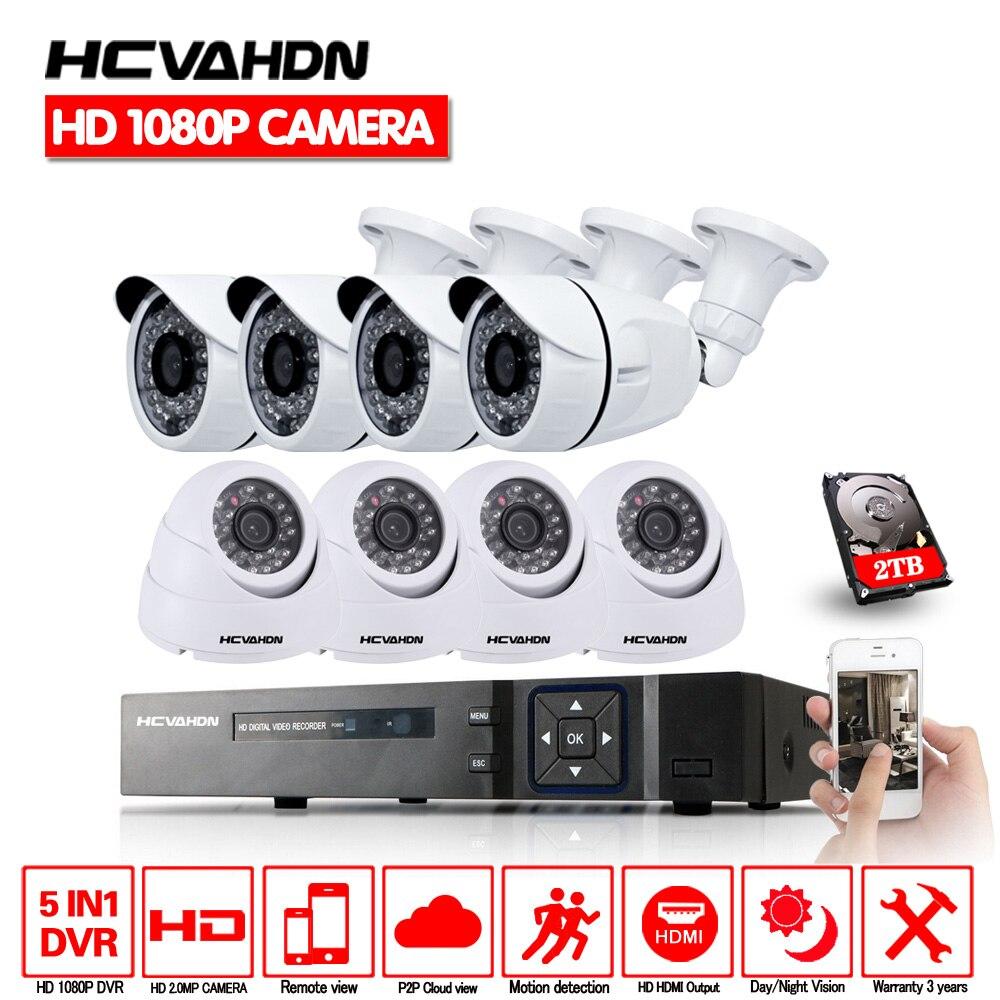 8CH système de vidéosurveillance Kit caméra extérieure 1080 P IR caméra système de sécurité système de Surveillance à domicile étanche nigth vision caméra