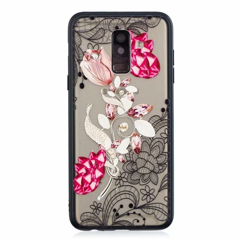 3D Paint Lace Flower Cell Phone Case For Samsung Galaxy S8 S8plus S9 S7edge A3 A5 A6 A8 Plus J8 J3 J4 J5 J6 J7 Pro/Prime Note9