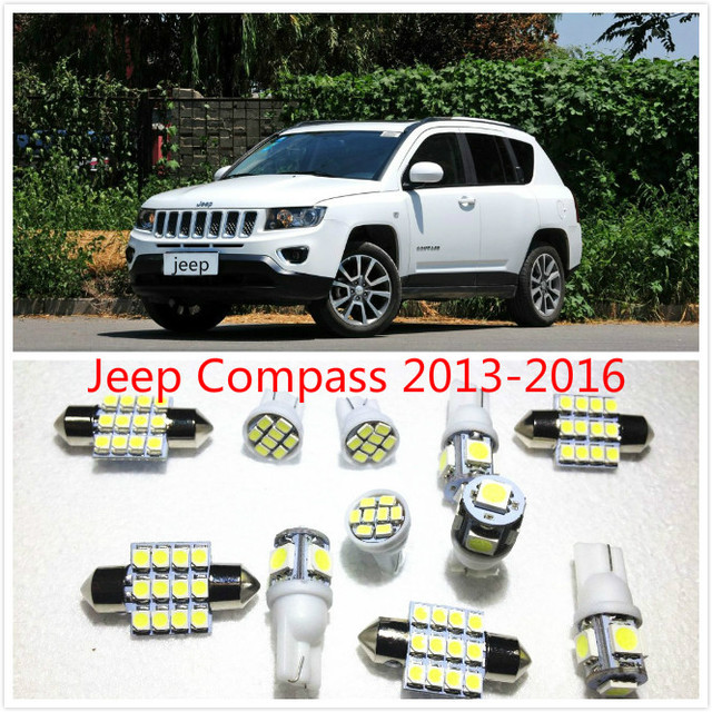 11 set bianco led si illumina pacchetto interno mappa - 2016 jeep compass interior lights ...