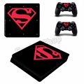 10 Models Superman PVC Slim Sticker for Sony Playstation 4 Console Skin for PS4 Slim Skin Vinyl Decal