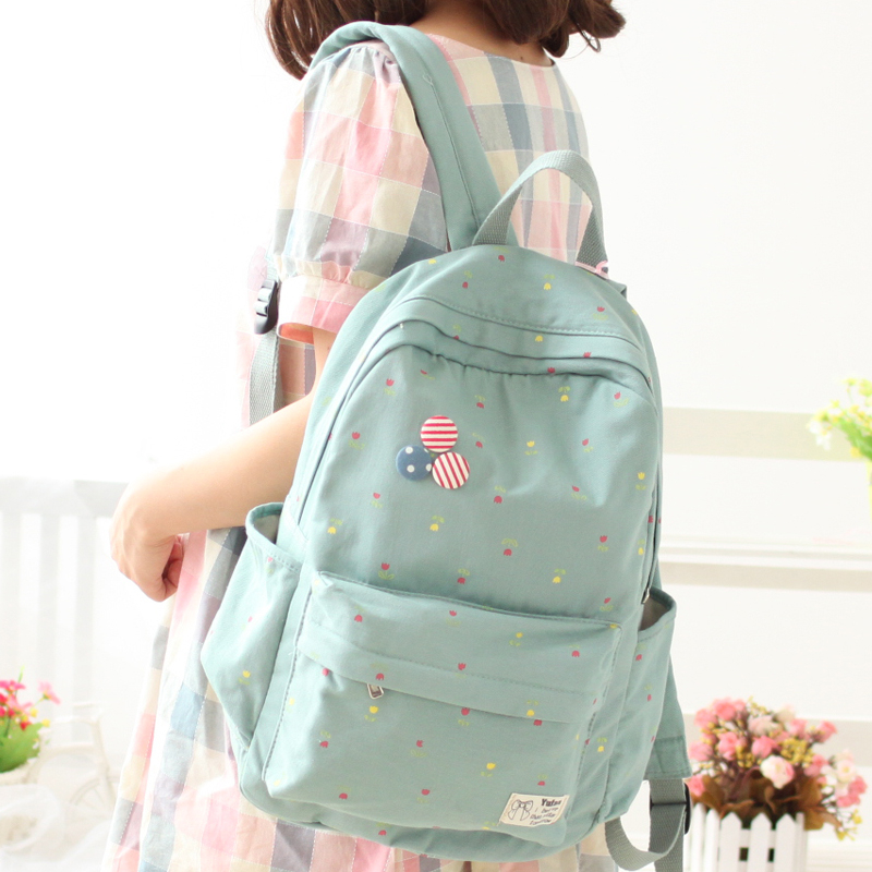Newest 2017 YuFan Fresh Soft Cute Soft Canvas Polyester Women Backpacks For Teenage Girls Women Bag