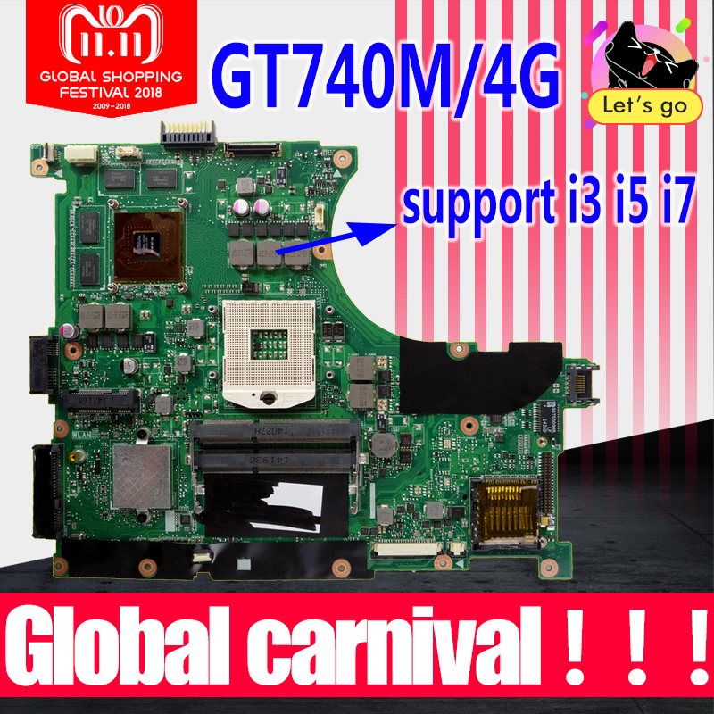 N56VB Motherboard GT740/4G For ASUS N56VM N56VJ N56VZ N56VB laptop Motherboard N56VB Mainboard N56VB Motherboard test 100% ok element sf m600c scout light led weaponlight black free shipping epacket hongkong post air mail