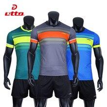 Etto Профессиональная Мужская Волейбольная командная форма быстросохнущая футболка с коротким рукавом набор для волейбола мужские спортивные костюмы S~ 4XL HXB029