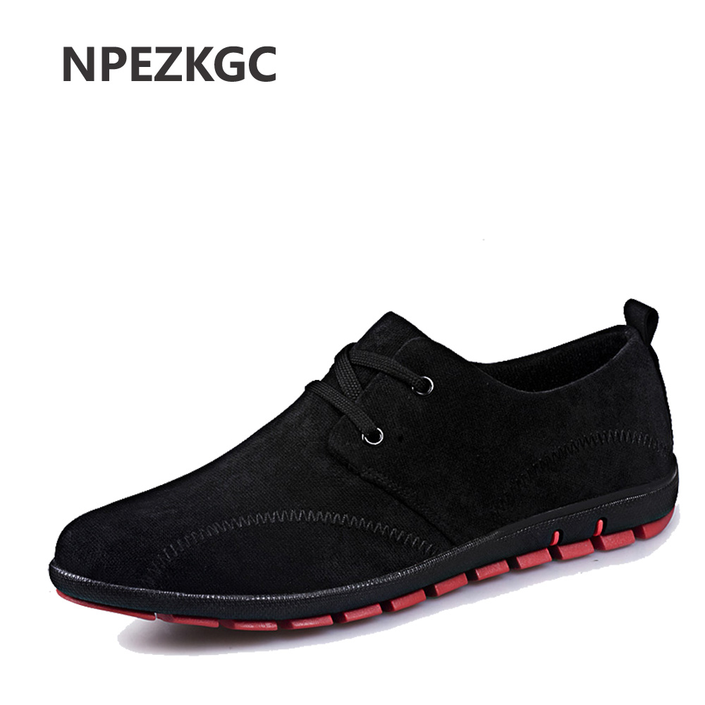 NPEZKGC new arrived Men Shoes Canvas Spring/Summer/Autumn Fashion Business Men Low Lace up Casual Breathable lightweight Shoes armani jeans armani jeans c5122 a6 12