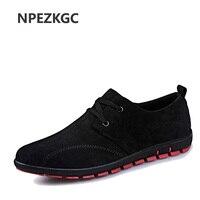 NPEZKGC nowy przybył Mężczyźni Brezentowych Butów Wiosna/Lato/Jesień Moda Biznesmenów Niska Lace up Casual Oddychająca lekkie buty