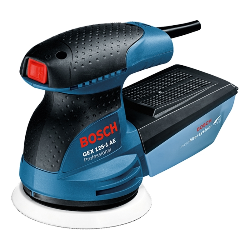 цена на Machine grinder random Bosch GEX 125-1 AE (Микрофильтр, Mount Velcro, double insulation)