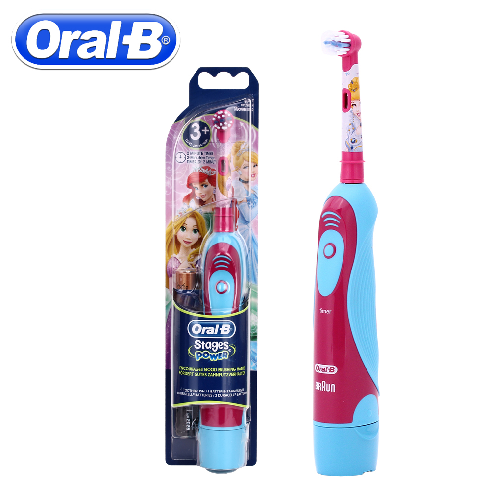 Oral B Electric Toothbrush For Children Oral Care Electronic Brush Kids Stages Battery Power Brush Teeth Electric 1 kit dental orthodontic oral care interdental brush toothpick between teeth brush 3pcs kit570041