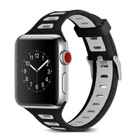 Fashion Sport Silicone Loop Strap For Apple Watch Band Sport 38mm 42mm Silicone Strap For Iwatch
