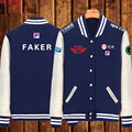 2016 Game LOL Faker SKT T1 S6 Team Uniform WAR Finals lol player fleece baseball jacket in stock free shipping NEW
