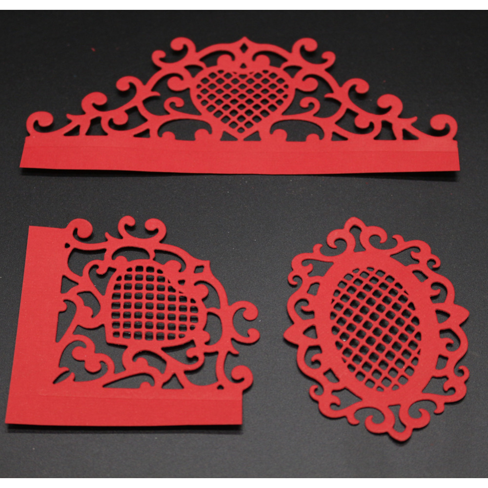 138*48MM scrapbooking Greeting card lace frame love shape Metal steel cutting flower shape Book photo album art card Dies Cut