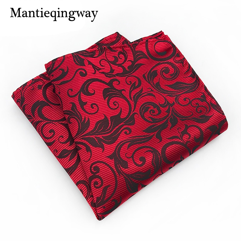 Classic Handkerchief Pocket Square For Mens Paisley Floral Printed Pocket Towel Wedding Tuxedo Hankies Chest Towel