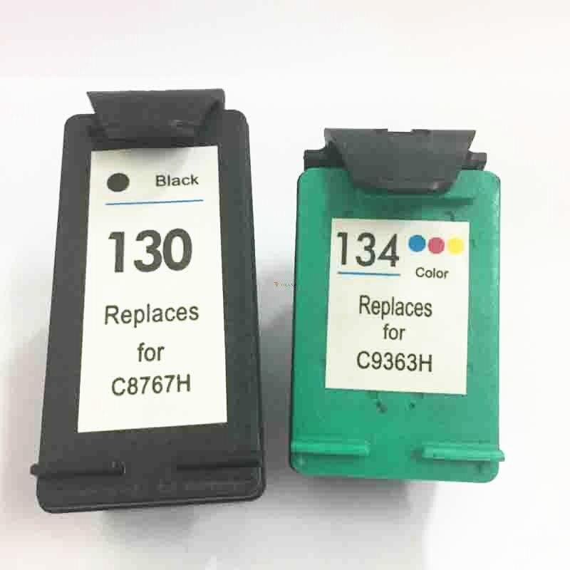 Vilaxh 130 134 Compatible Ink font b Cartridge b font Replacement for 130 134 Deskjet 6543
