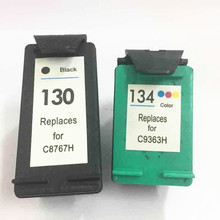 Vilaxh 130 134 Compatible Ink Cartridge Replacement for 130 134 Deskjet 6543 5743 6623 5743 6843 6523 5943 6943 6983 printer
