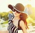 8 шт. / много - 064 / цвет элегантный женщины солнца шляпа / плетеная ткань солома шляпа / дамы лето шляпы