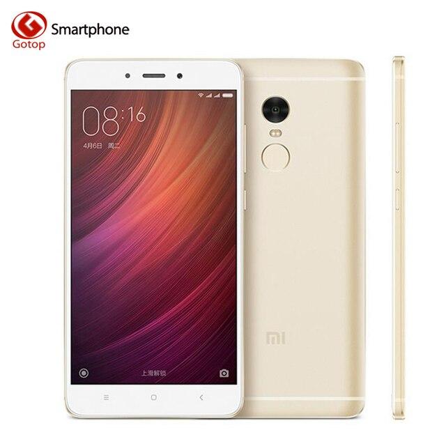 Оригинал Xiaomi Redmi Note 4 Сотовый Телефон MTK Helio X20 Дека Ядро Смартфон Озу 3 ГБ + Rom 64 ГБ Отпечатков Пальцев Мобильный телефон