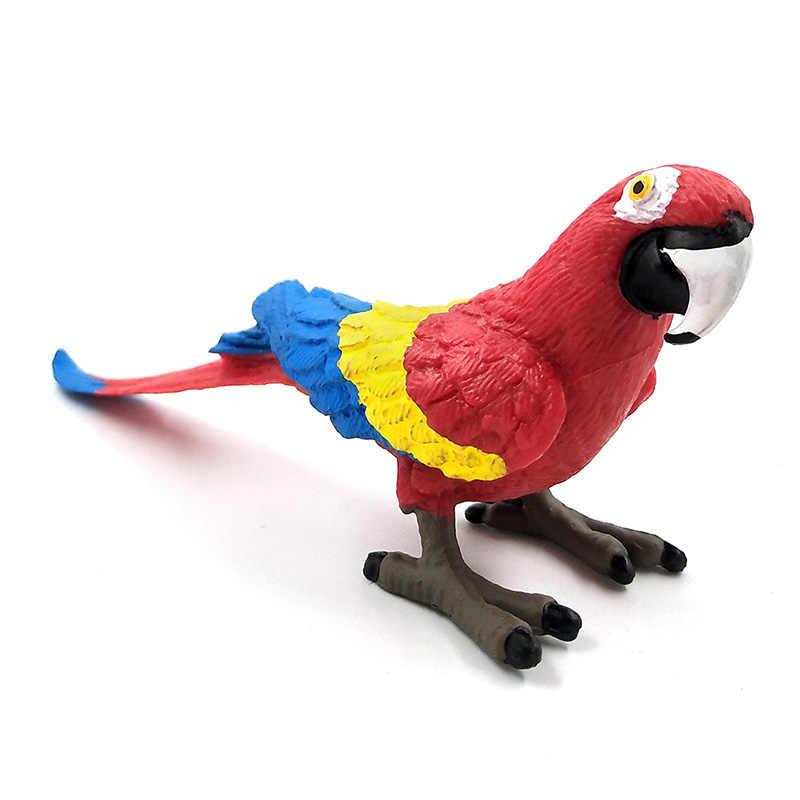 Simulação Da Floresta selvagem Mini Papagaio pássaro enfeites de decoração Para Casa decoração modelo animal estatueta jardim figura de ação Brinquedos de Plástico
