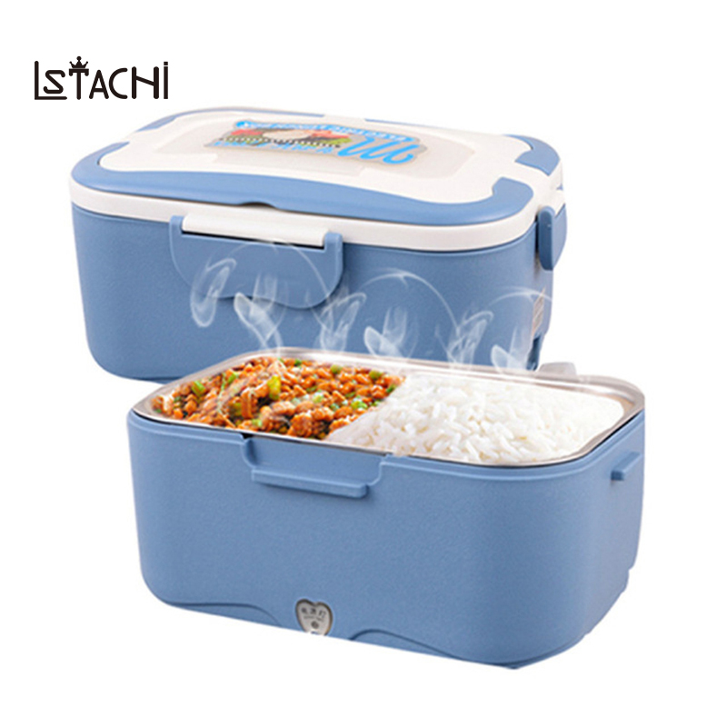 Electric Food Heater Lunch Box 304 Stainless Steel Inner Pot 12V/24V/220V Food Warmer Portable Lunch Box Heater Rice Travel animal food fruit picks forks lunch box accessory decor